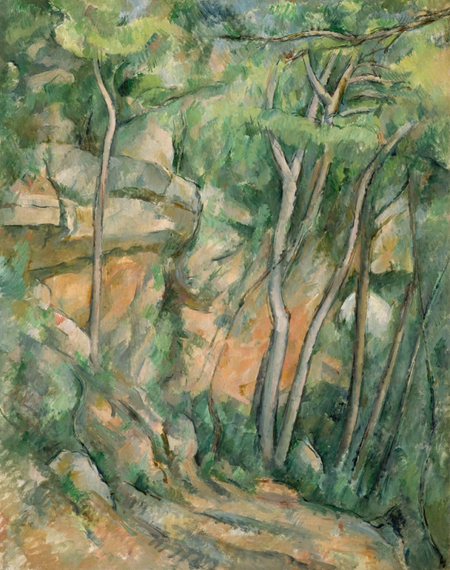 dans le parc de chateau noir cézanne