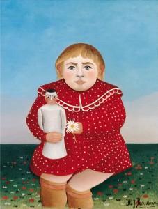 enfant à la poupée douanier rousseau