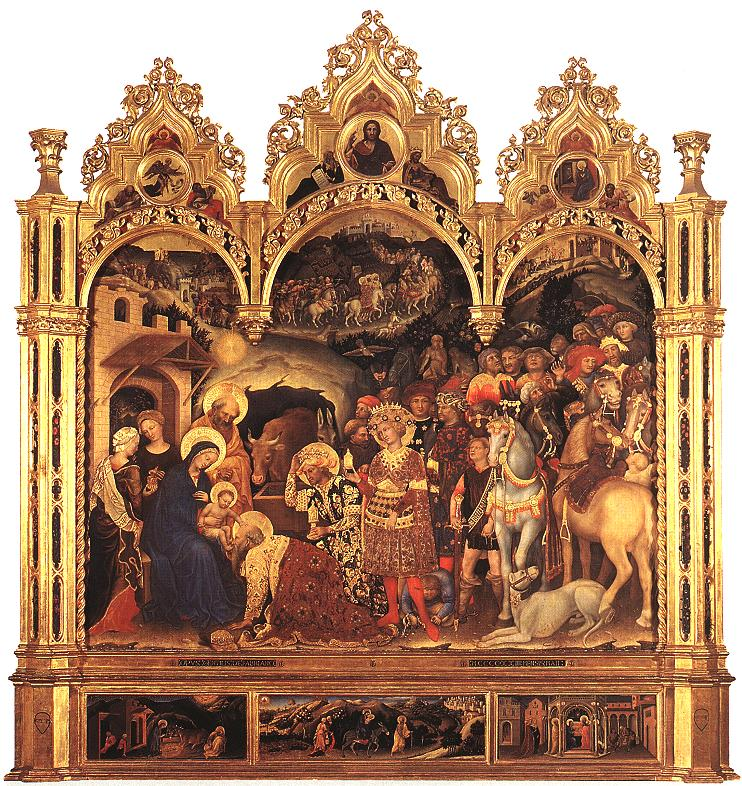Adoration des mages Gentile da Fabriano