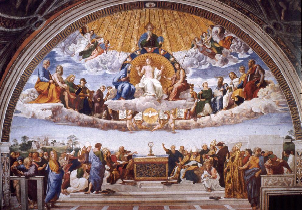 Dispute du Saint Sacrement Raphael