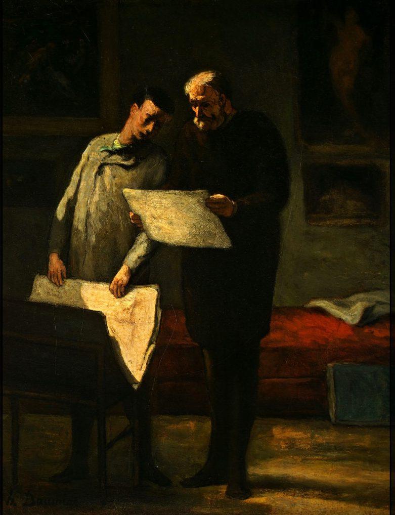 Conseil à un jeune artiste, Daumier
