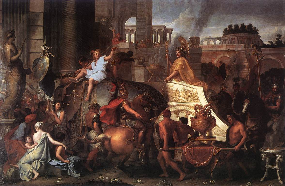 Entrée d'Alexandre dans Babylone, Charles le Brun