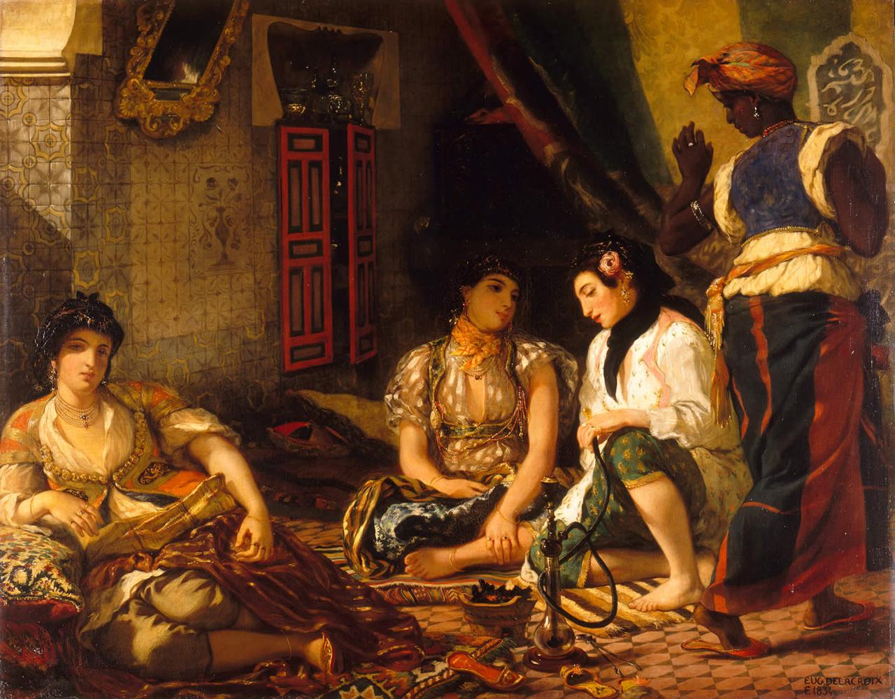 Femmes d'Alger dans leur appartement, Delacroix