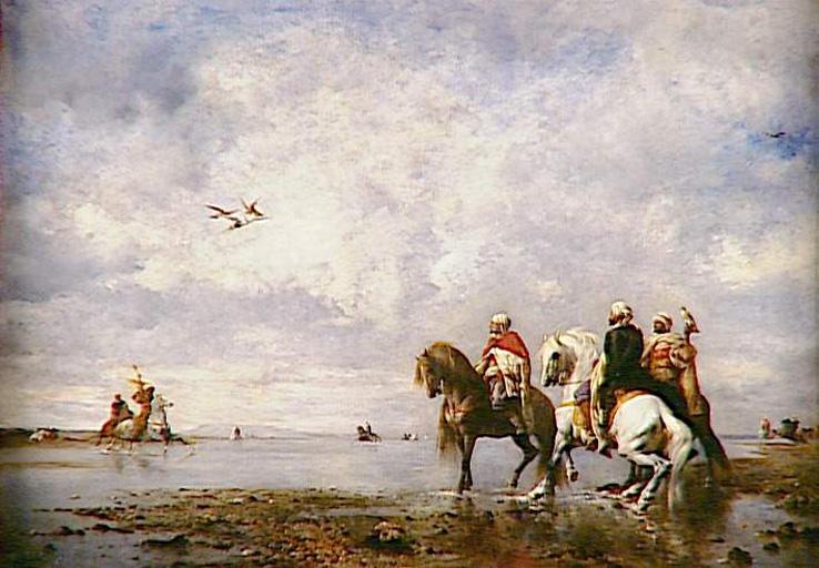 La Chasse au héron, Fromentin