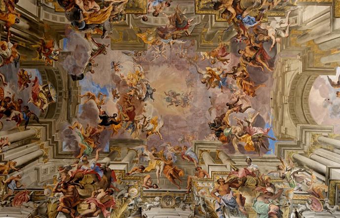 La Gloire de Saint Ignace de Loyola, Pozzo