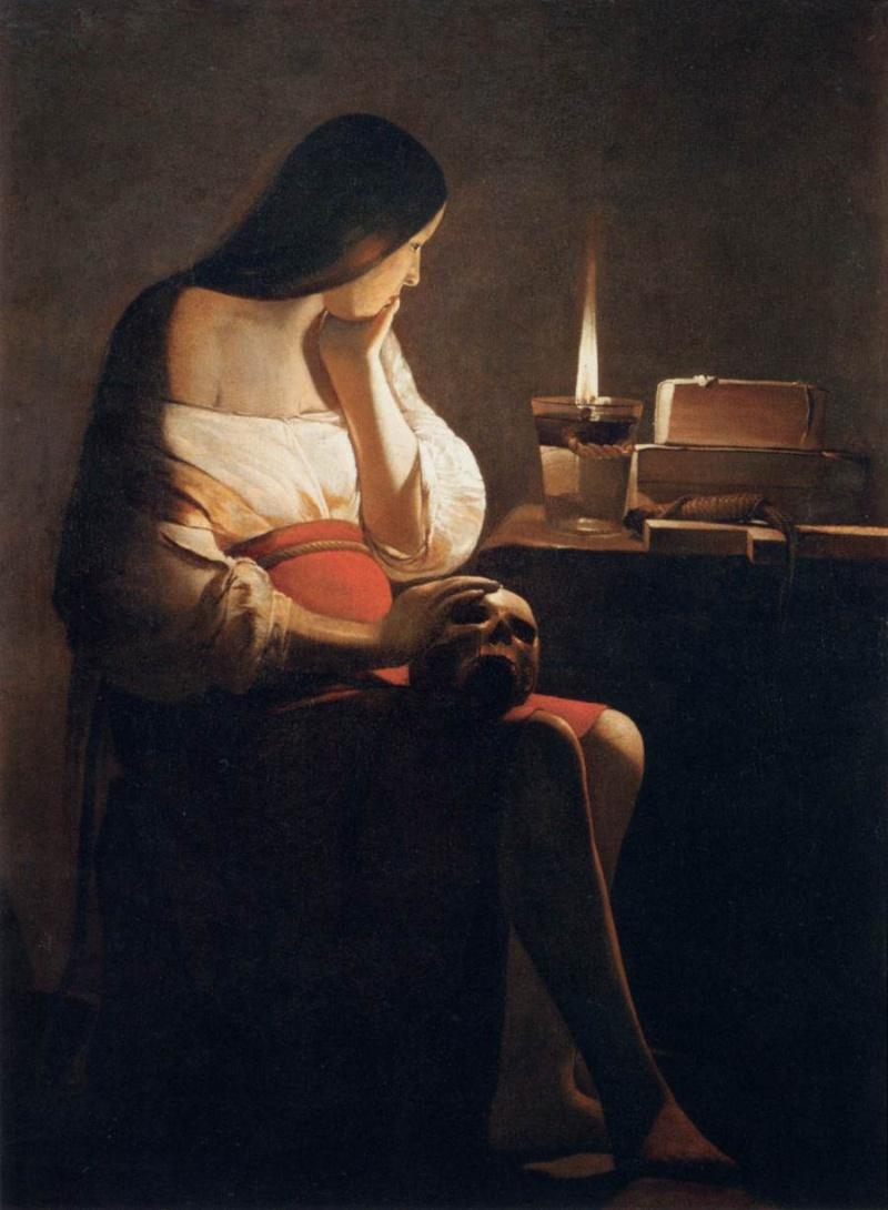 La Madeleine à la veilleuse, George de la Tour