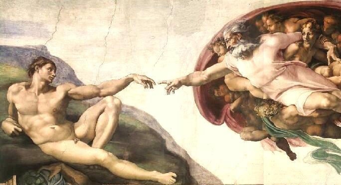 La création d'Adam, Michel Ange