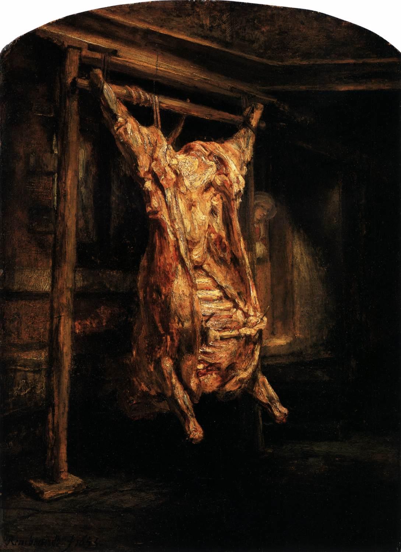 Le Boeuf écorché Rembrandt