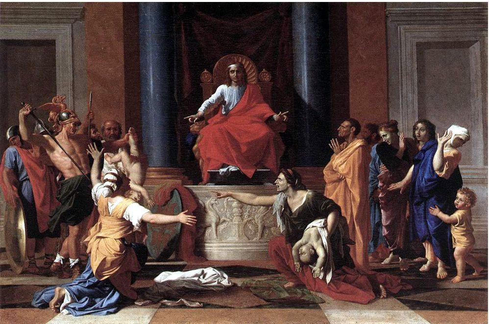 Le Jugement de Salomon, Poussin