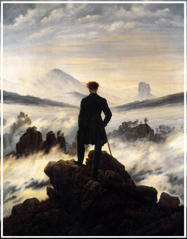 Le voyageur au-dessus de la mer de nuages, Friedrich