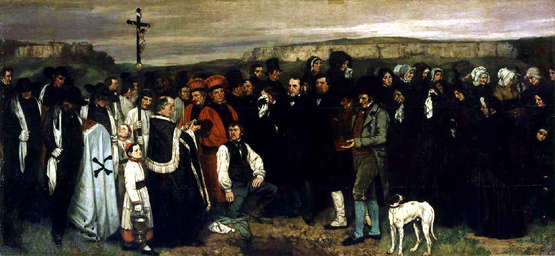 L'enterrement à Ornans, Courbet