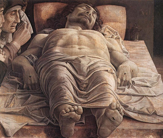 Le Christ mort, Mantegna