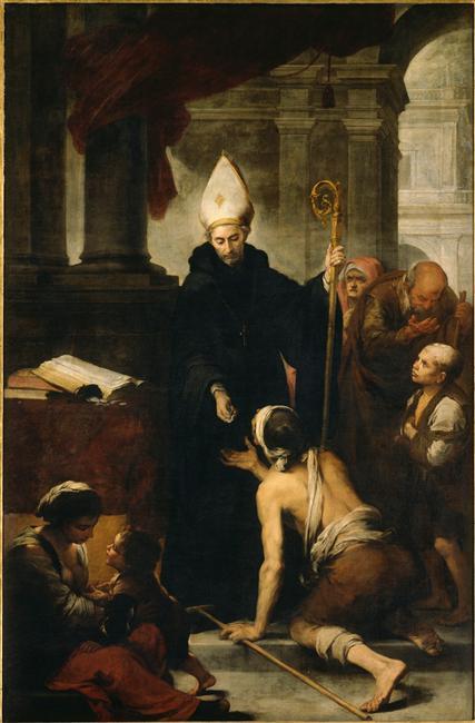 Saint Thomas de Villeneuve faisant l'aumône, Murillo