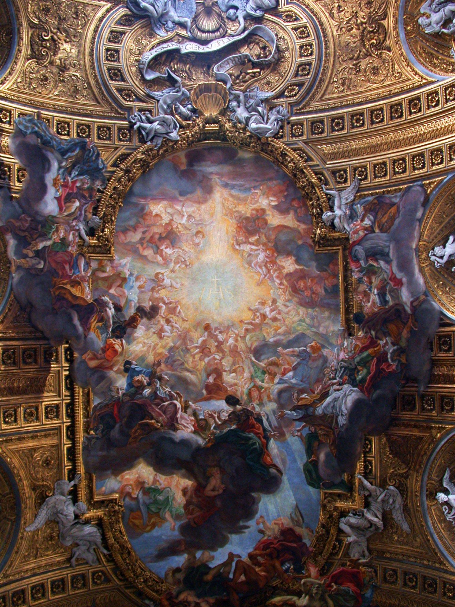 Triomphe du nom de Jésus, Baciccio