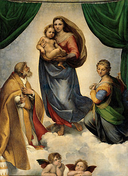 la madone Sixtine, Raphael