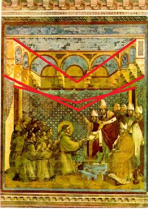Pape Innocent III approuvant la règle de Saint François, Giotto