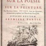 Abbé Du Bos Réflexions critiques sur la peinture
