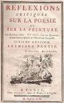 abbé du bos réflexion sur la peinture et la poésie
