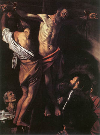 Crucifiement de saint André, Caravage