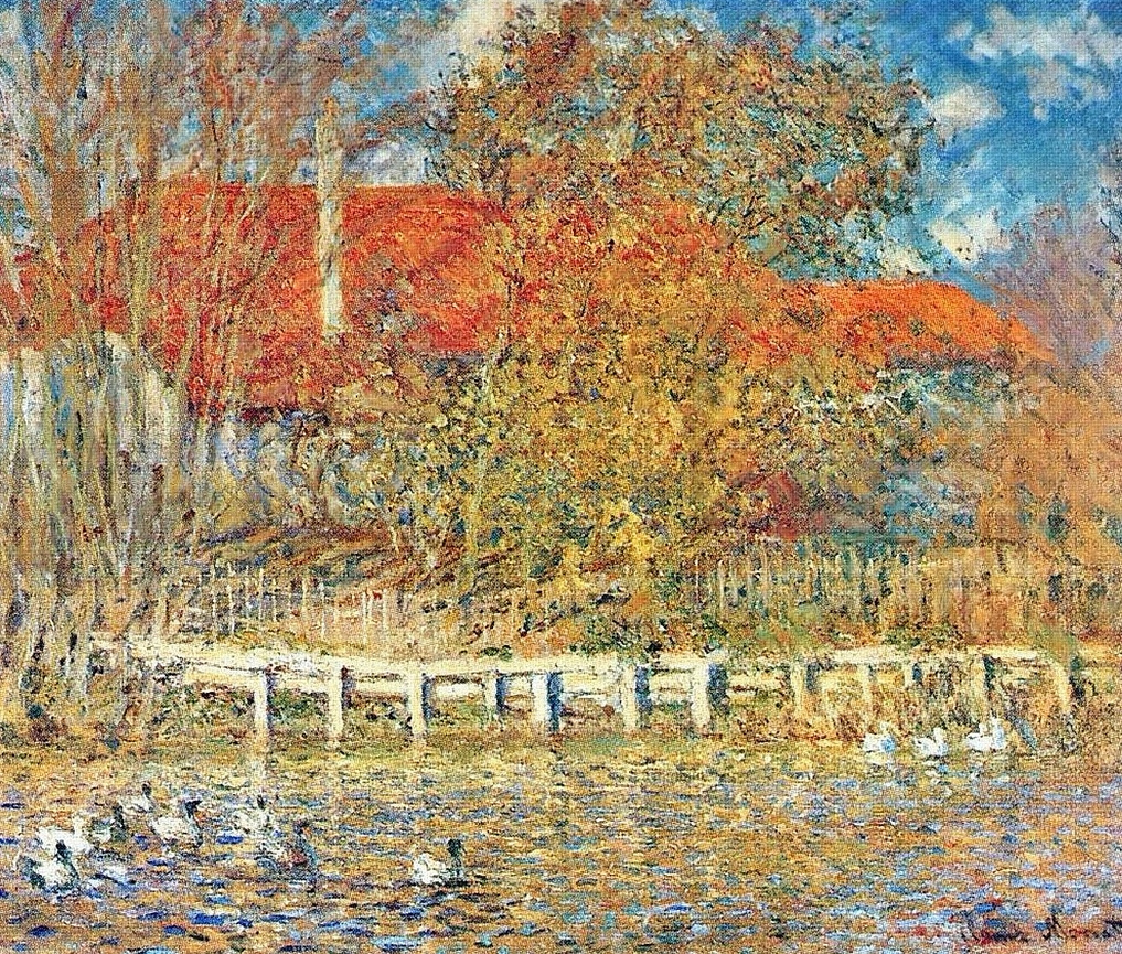 La mare aux canards, Monet