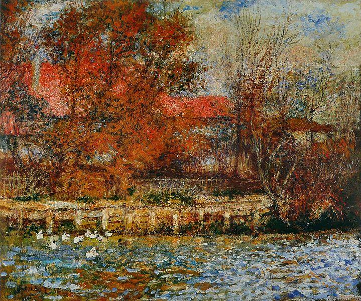 La mare aux canards, Renoir