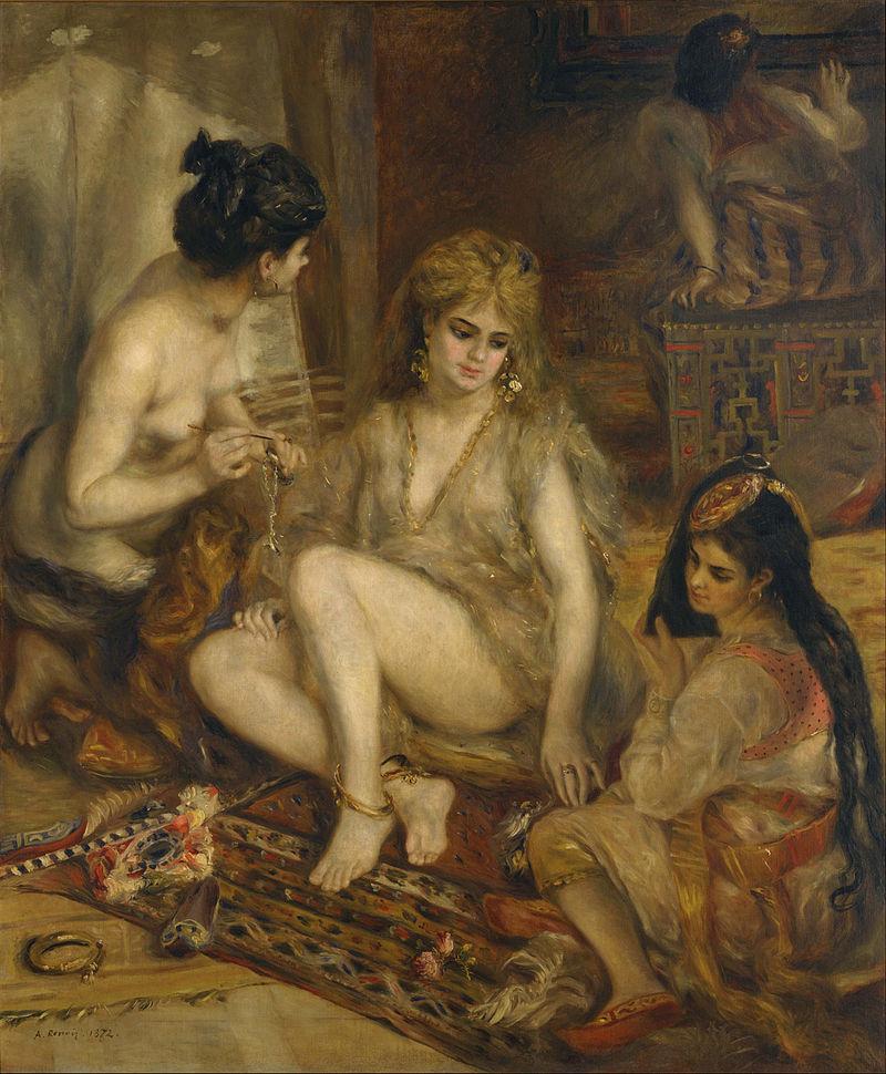 Parisiennes costumées en algériennes, Renoir