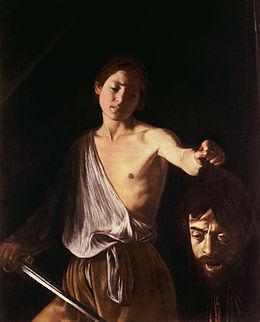 David avec la tête de Goliath, Caravage