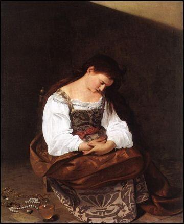 Madeleine repentante, Caravage