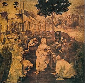 Adoration des mages, Léonard de Vinci