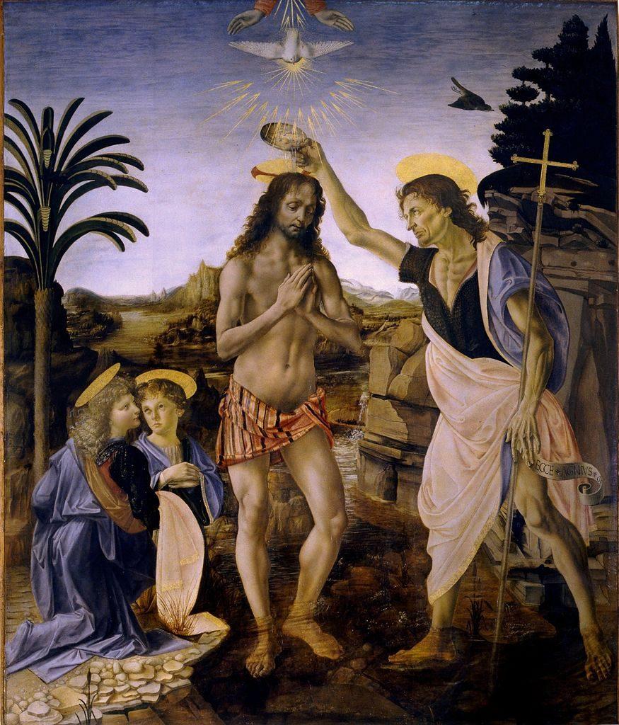 Baptême du Christ, Léonard de Vinci