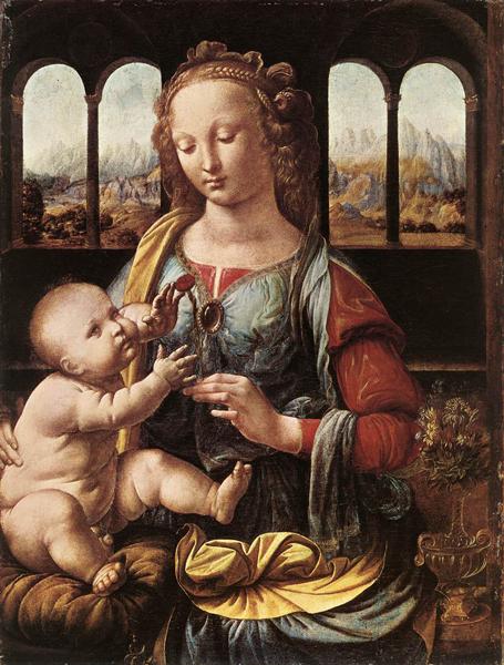 Madone à l oeillet, Léonard de Vinci