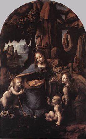 Vierge aux rochers, Léonard de Vinci