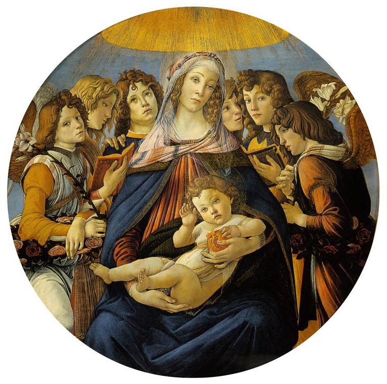 Vierge à la grenade, Botticelli