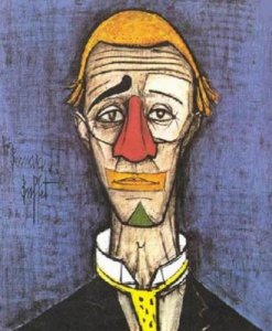 Bernard buffet portrait de clown