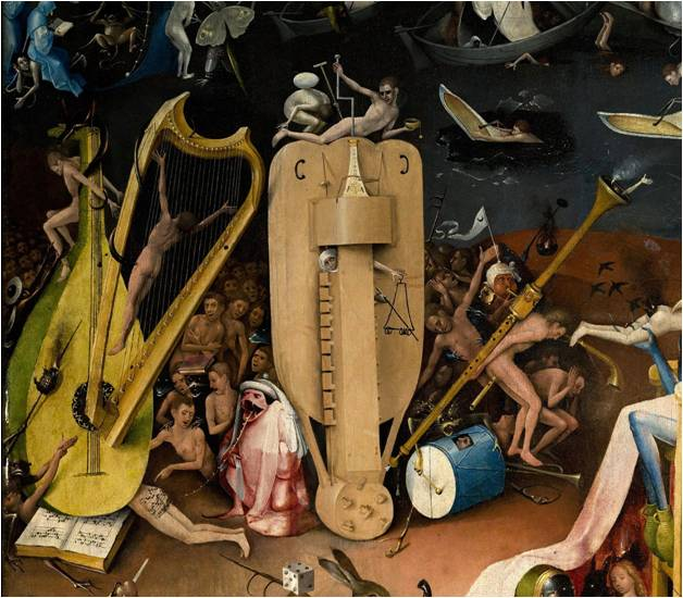 jardin des délices enfer des musiciens