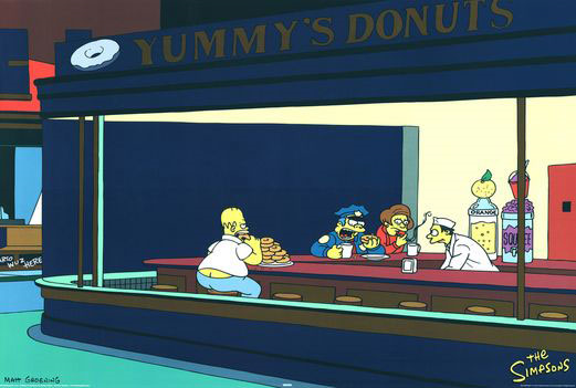 nighthawks simpsons