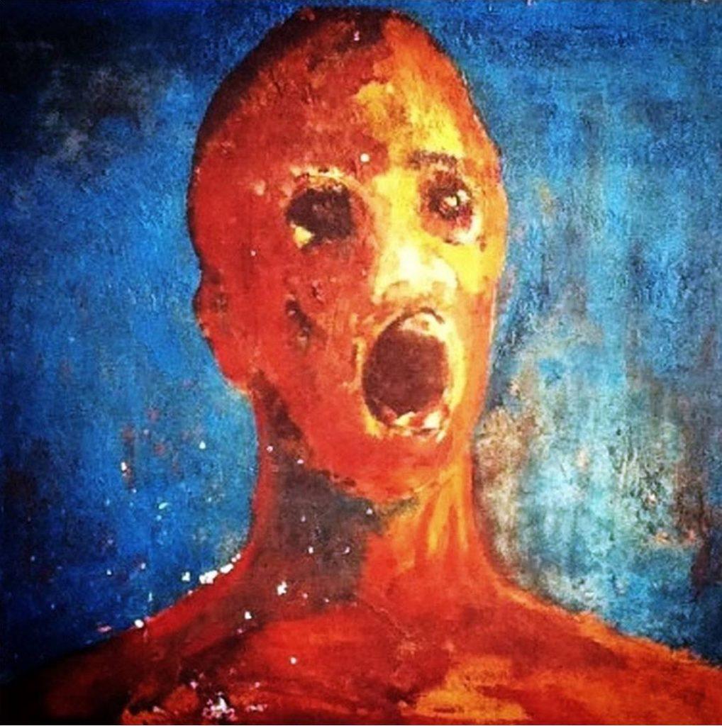 the anguished man, l'homme angoissé, tableau maudit