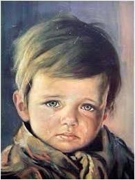 le garçon qui pleure crying boy tableau maudit