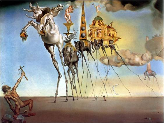 la tentation de saint thomas dali