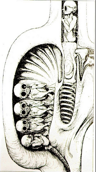 hr giger birth machine II