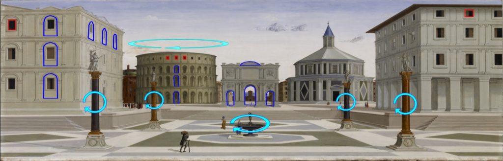 La cité idéale, fra Carnevale, amphithéâtre