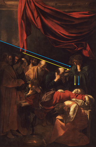 La Mort de la Vierge Composition