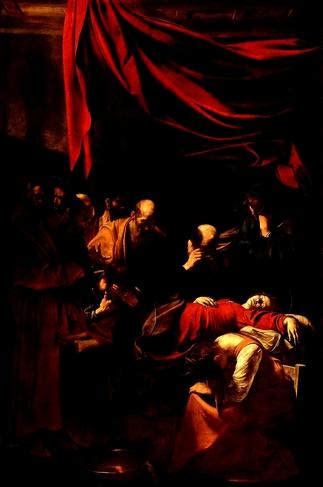 La Mort de la Vierge Contraste