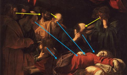 La Mort de la Vierge Regard