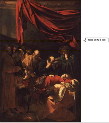 La Mort de la Vierge Rideau rouge