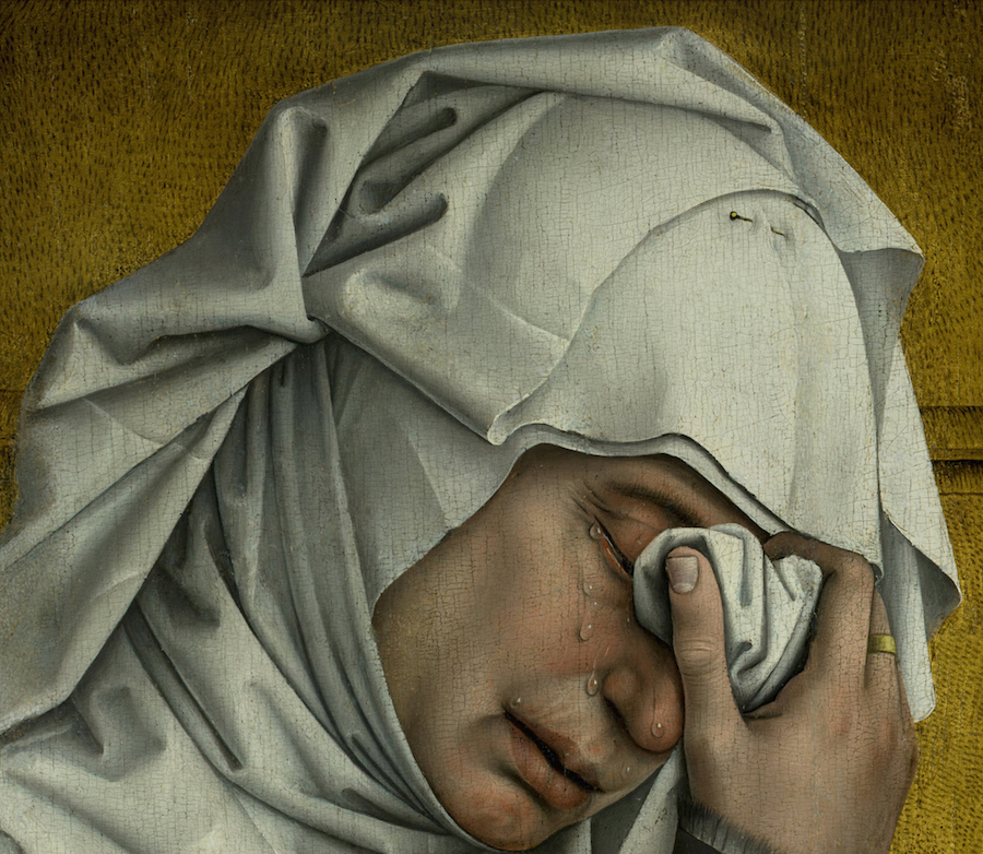 La descente de Croix Rogier Van Der Weyden Larme