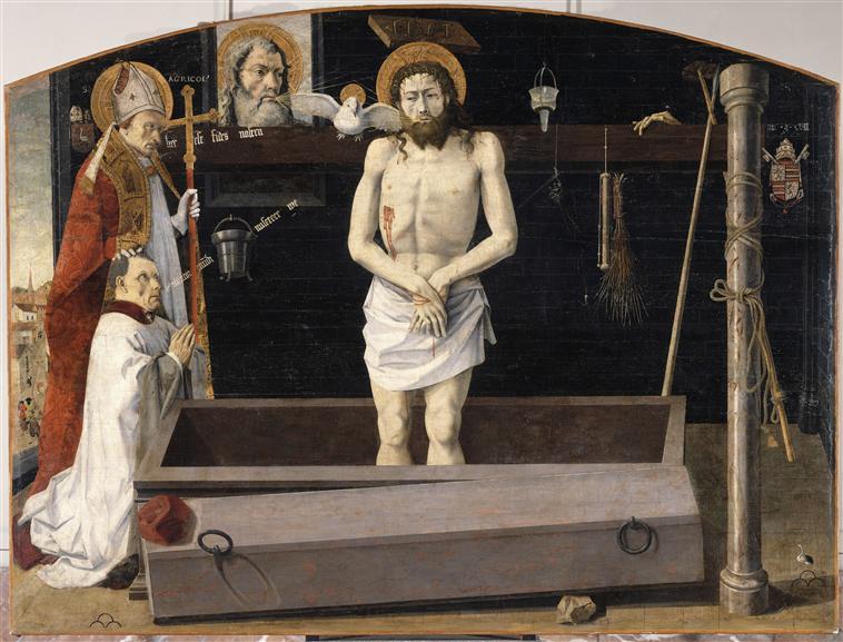 retable de boulbon le christ de douleur, saint agricol et un donateur