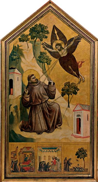 saint françois d'assise recevant les stigmates giotto