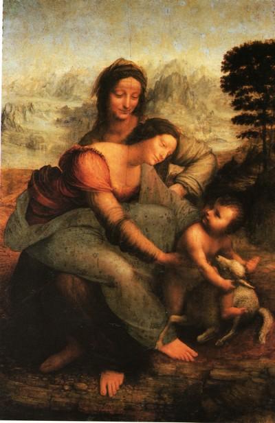 La Vierge, l'Enfant Jésus et Sainte Anne, Léonard de Vinci