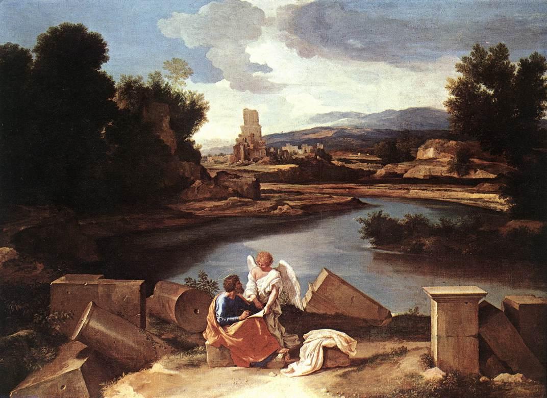 Paysage avec Saint Matthieu et l'ange, Poussin